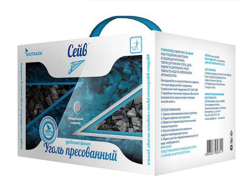 """Древесно-угольные брикеты Зенит """"Сейв"""", 3 кг."""