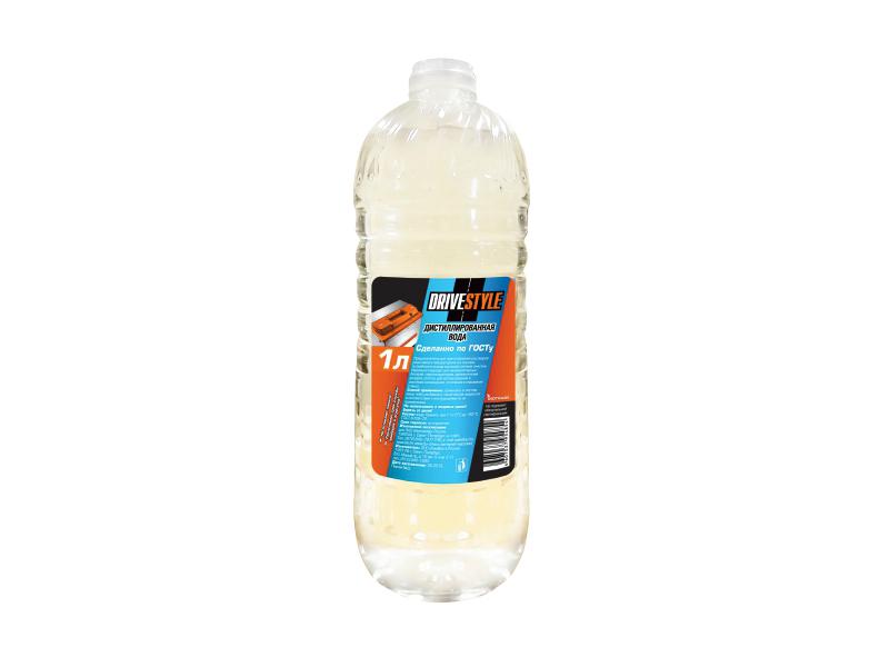 Дистиллированная вода DRIVESTYLE, 1л,