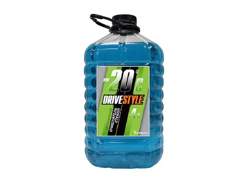 Очиститель стекол  DRIVESTYLE -20, 4л., ПЭТ