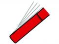 Набор угловых шампуров BioStyle в чехле, 61см. 6шт.